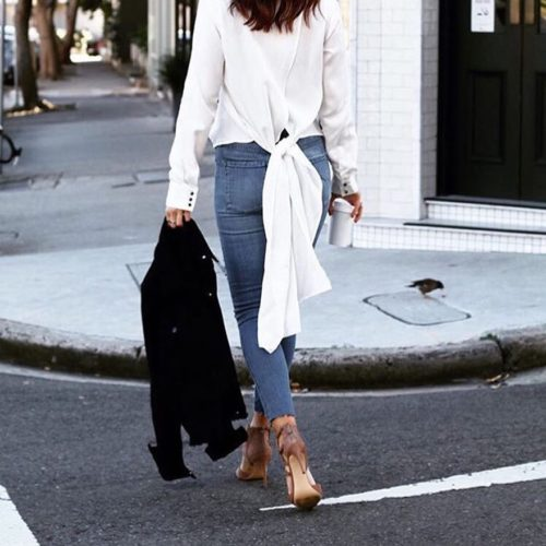 #Goals @syneofstyle in @nobodydenim's cult skinny jeans.